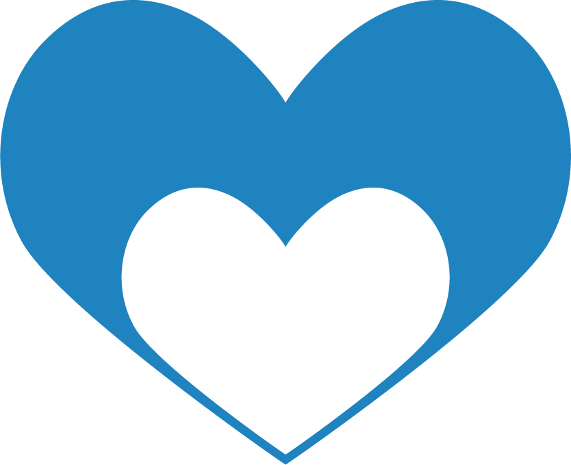 Kinship Icon depicting a heart with a smaller heart inside,